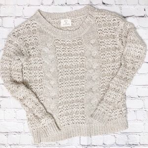 [pins and needles] gorgeous mixed knit sweater